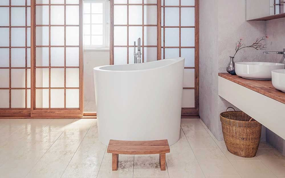 Aquatica True Ofuro Mini Freestanding Stone Japanese Soaking Bathtub ...