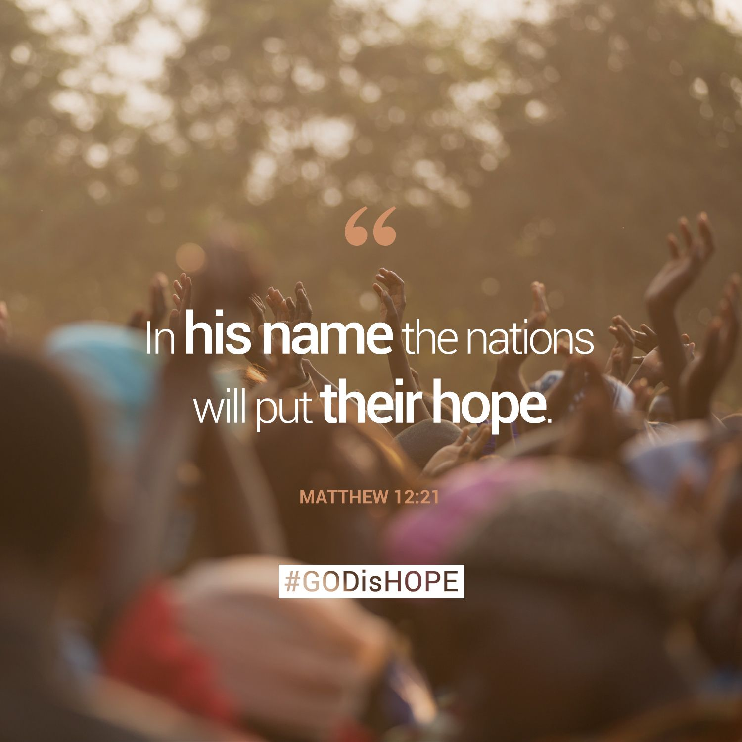 In His Name The Nations Will Get Their Hope.   Matthew 12:21 #. Feeling  HopelessMemory VerseAnchorBible Verses QuotesBible ...