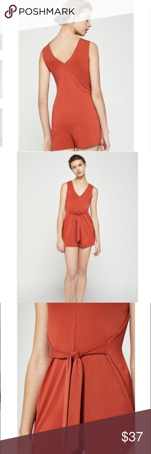 94fc89e604f NEW BCBG Generation Waist Tie Romper NEW With tags - sleeveless romper with  adjustable waist tie. BCBGeneration Pants Jumpsuits   Rompers
