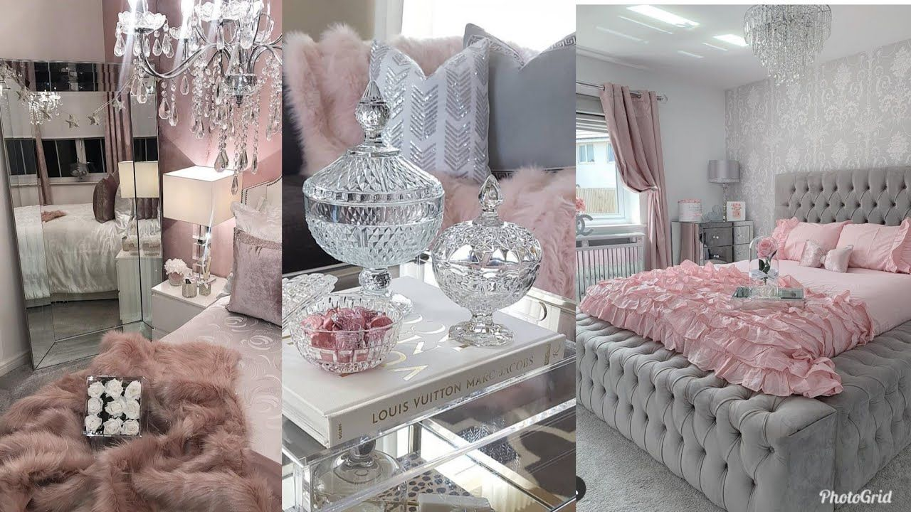 Best Pink Grey Glamorous Luxury Bedrooms Living Rooms Tour 400 x 300
