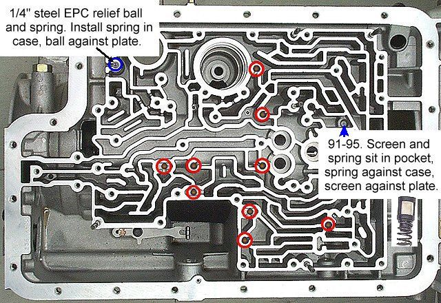 Check Ball Location On A 2001 Ford E40d Transmission E40d