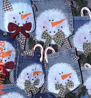 3da299e5ba2c Hóemberes felakasztható karácsonyi dekoráció farmer zsebből ❤Mindy - kreatív  ötletek és dekorációk minden napra