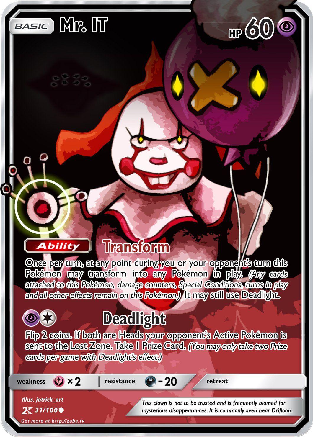 Mr It Custom Pokemon Card Make Pokemon Cards Pokemon Card