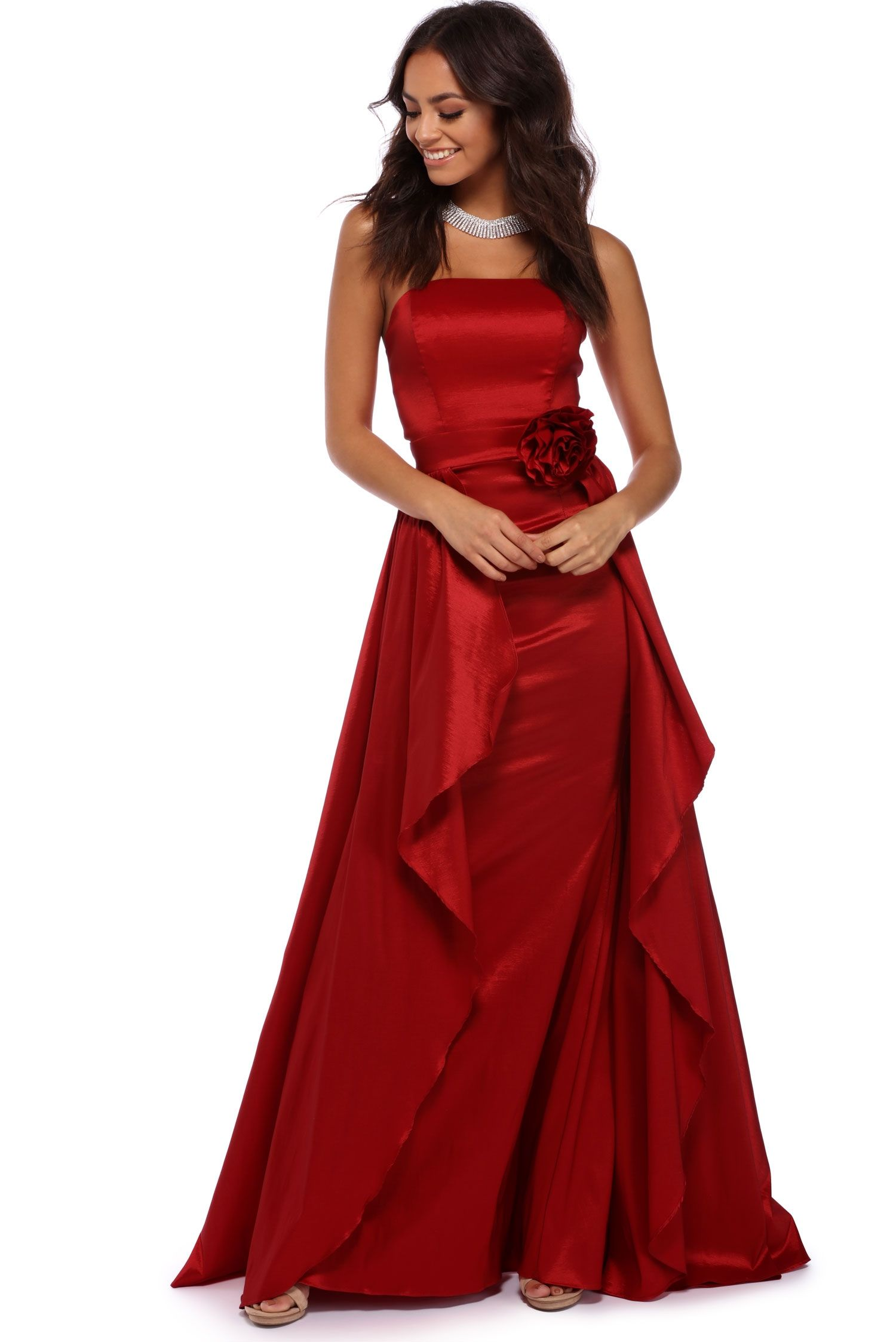 Arabelle Red Strapless Ball Gown | windsor