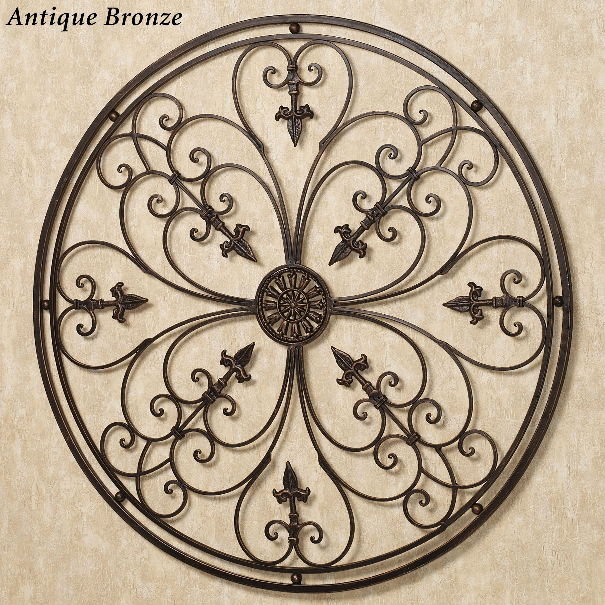 Ravenna Round Metal Wall Grille Iron Wall Art Wall Grille