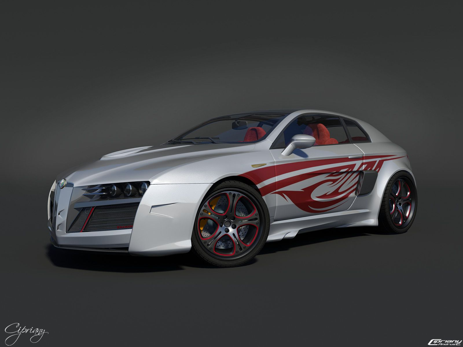 Car engine faster alfa romeo brera tuning hd wallpapers