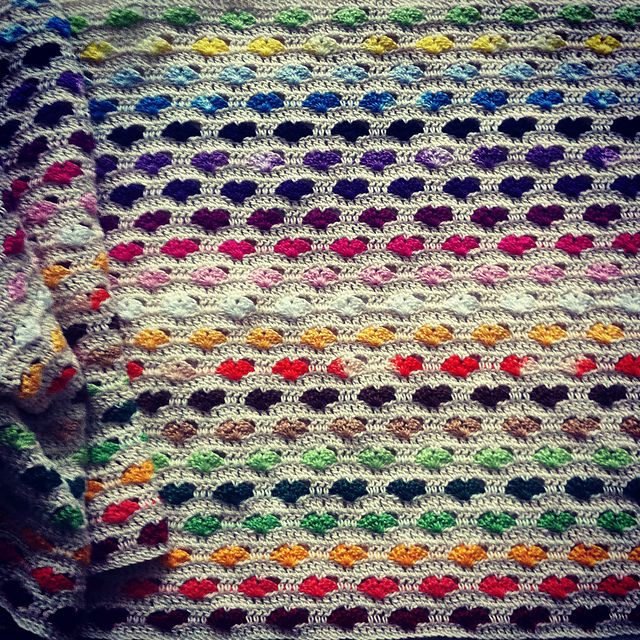 Hearts Blanket Interview With Awesome Crochet Blanket Artist