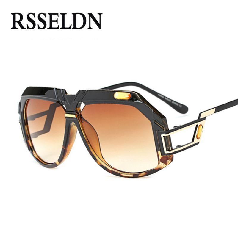 1fcb42e93249 RSSELDN New Fashion Sunglasses Men Brand Designer UV400 2017 Luxury  Transparent Sun Glasses For Women Gradient Vintage