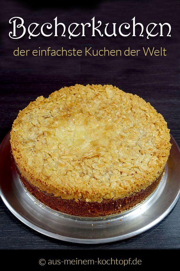 Der Becherkuchen ist der einfachste Kuchen der Welt #schnellepartyrezepte