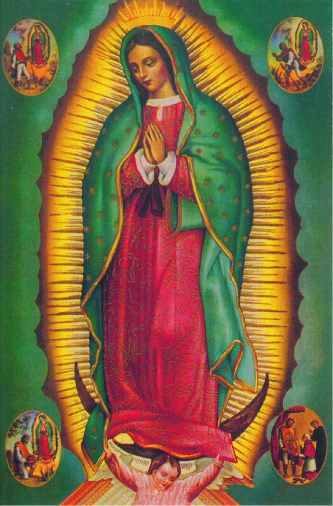 Our Lady Of Guadalupe Blessed Virgin Mary Postcard