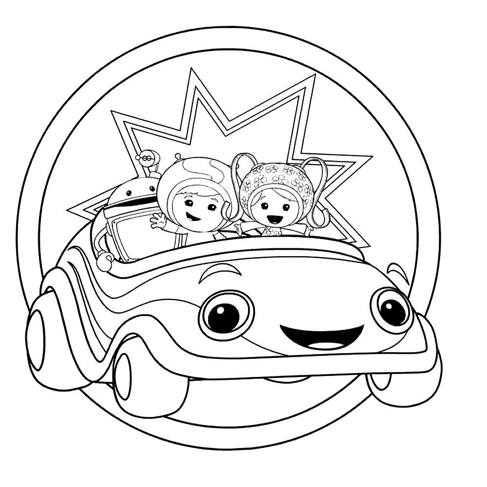 Printable Team Umizoomi Coloring Pages Coloring Book Pinterest