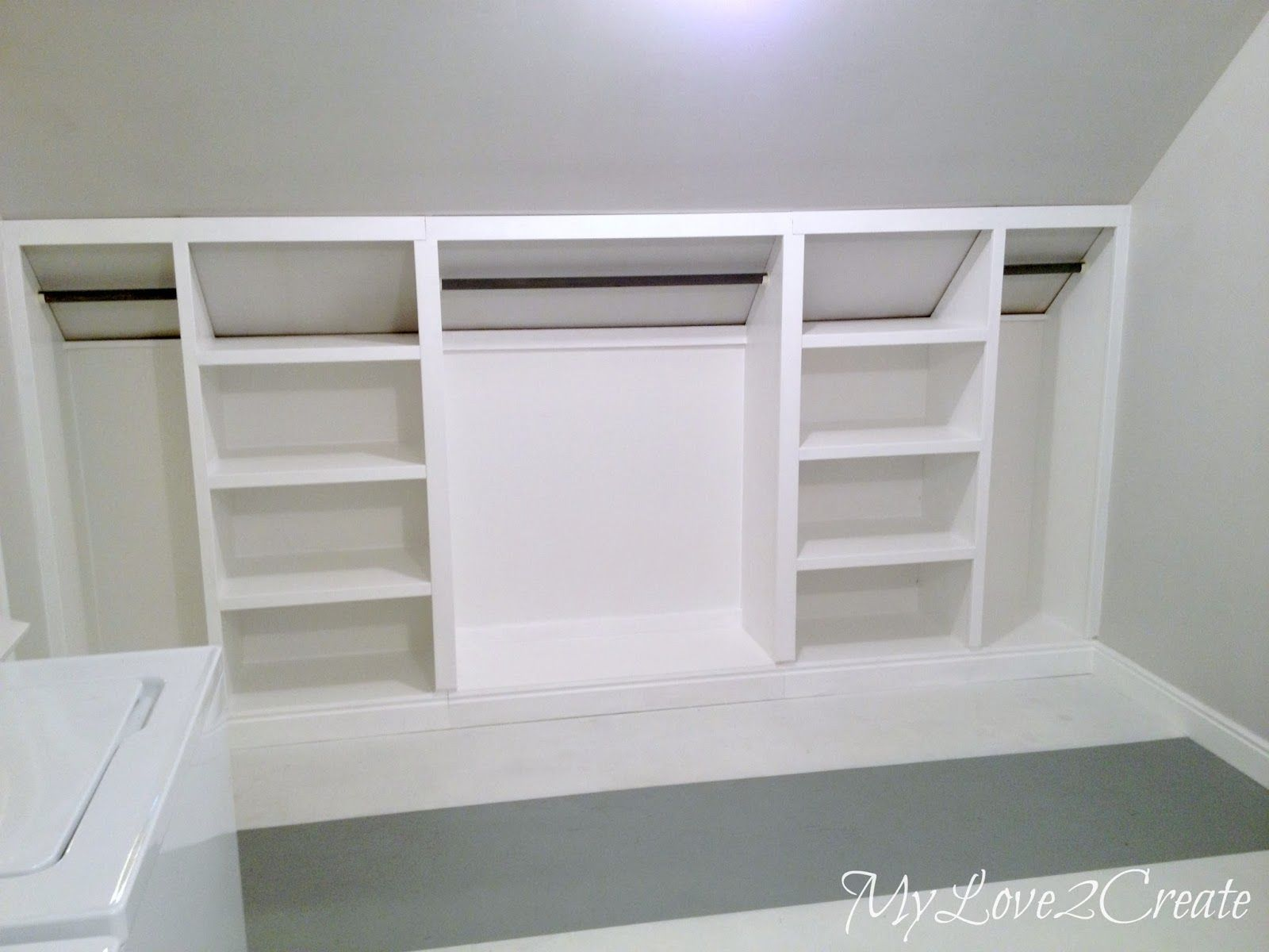 Closet design for slanted ceiling Totally will need this