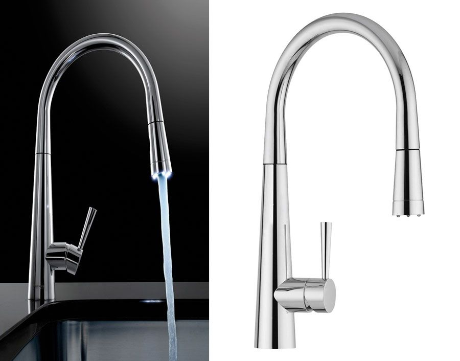 Franke Rolux Pull Out Kitchen Tap With Led Light