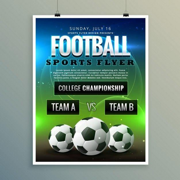 Fussball Fussball Poster Flyer Vorlage Kostenlosen Vektoren Flyer Vorlage Vorlagen Fur Flyer Flyer