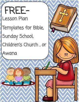sunday school lesson plan template