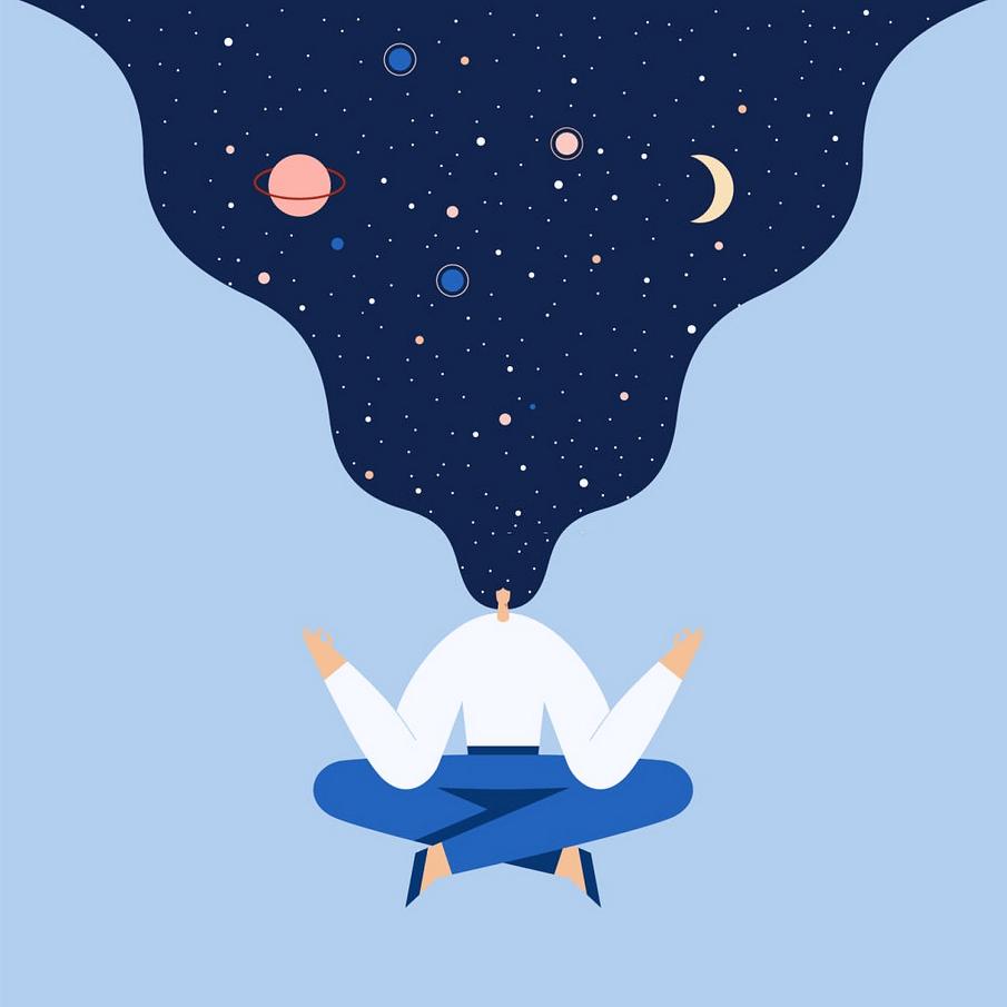 Meditation | El arte de la meditación, Diseño gráfico ilustración, Diseño  de ilustración