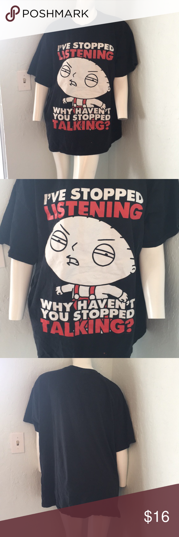 Stewie says... Fruit of the Loom Black Size 2XL (Unisex