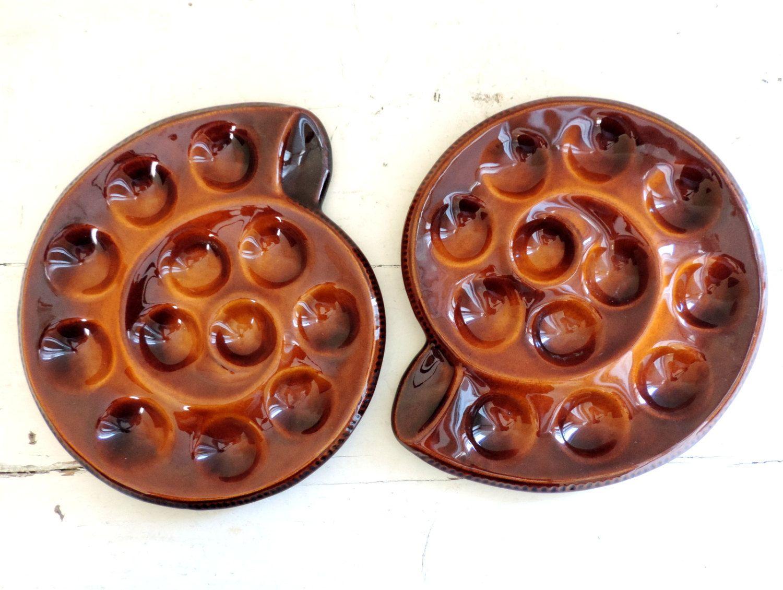 French Vintage Ceramic Snail Serving Plates/ Vintage Escargot Plates Set Of\u2026  sc 1 st  Pinterest & French Vintage Ceramic Snail Serving Plates/ Vintage Escargot Plates ...