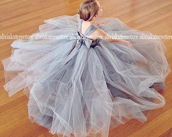 b2114f2879 Flower Girl Dress Natural Navy by OliviaKateCouture on Etsy