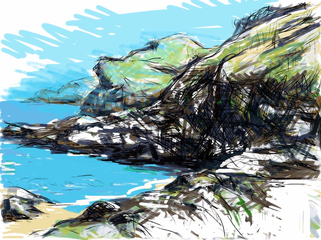 Craig Longmuir, 'Jersey', ipad drawing from observation.