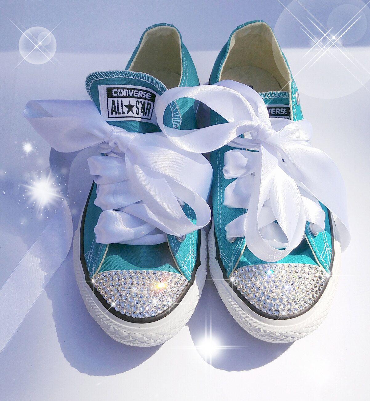 cb68fc4f9 Custom Toddler Converse, Swarovski Converse, Bling Converse, Blinged out  Converse, Custom Converse, Converse Bling shoes, Crystal Converse by  AllureDesignz ...
