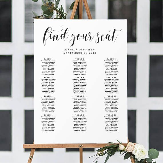 Wedding seating chart template seating chart sign editable template wedding seating chart template seating chart sign editable template 24x36 seating chart download wedding seating chart maxwellsz