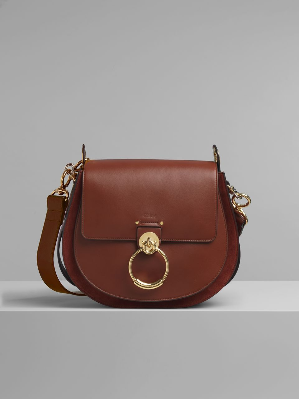 39f37089a048a7 Chloe - Large Tess bag in shiny & suede calfskin | Bag lady | Bags ...