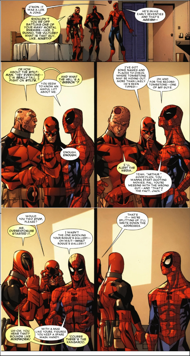 Deadpool,Spidey and Daredevil