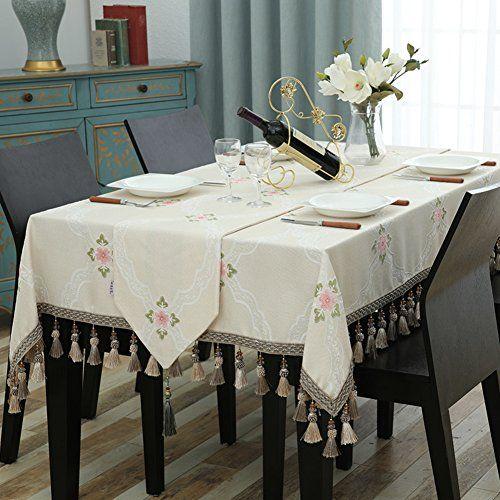Tablecloth Fabrics Light Blue Rectangle Table Cloth Ellipse Table Cloth Tea Table Mats Desktop Fabric Table Cloth Hous Artesanias De Costura Artesanias Cocinas