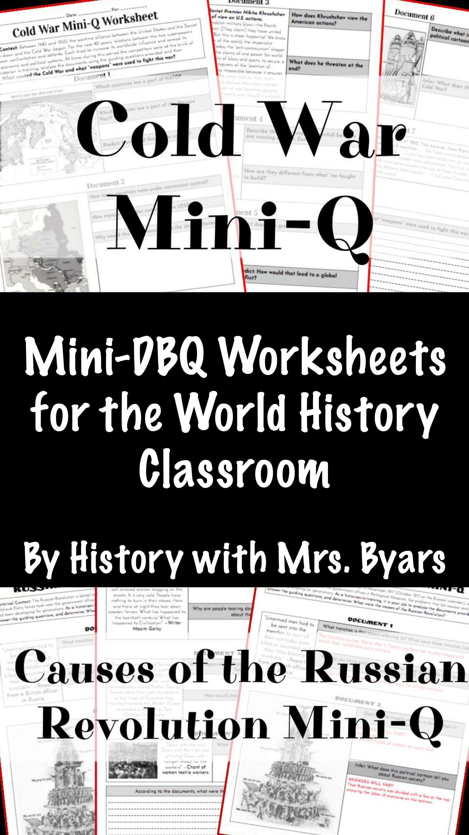 Mini-DBQ Worksheets are the perfect sub plan in the World History ...