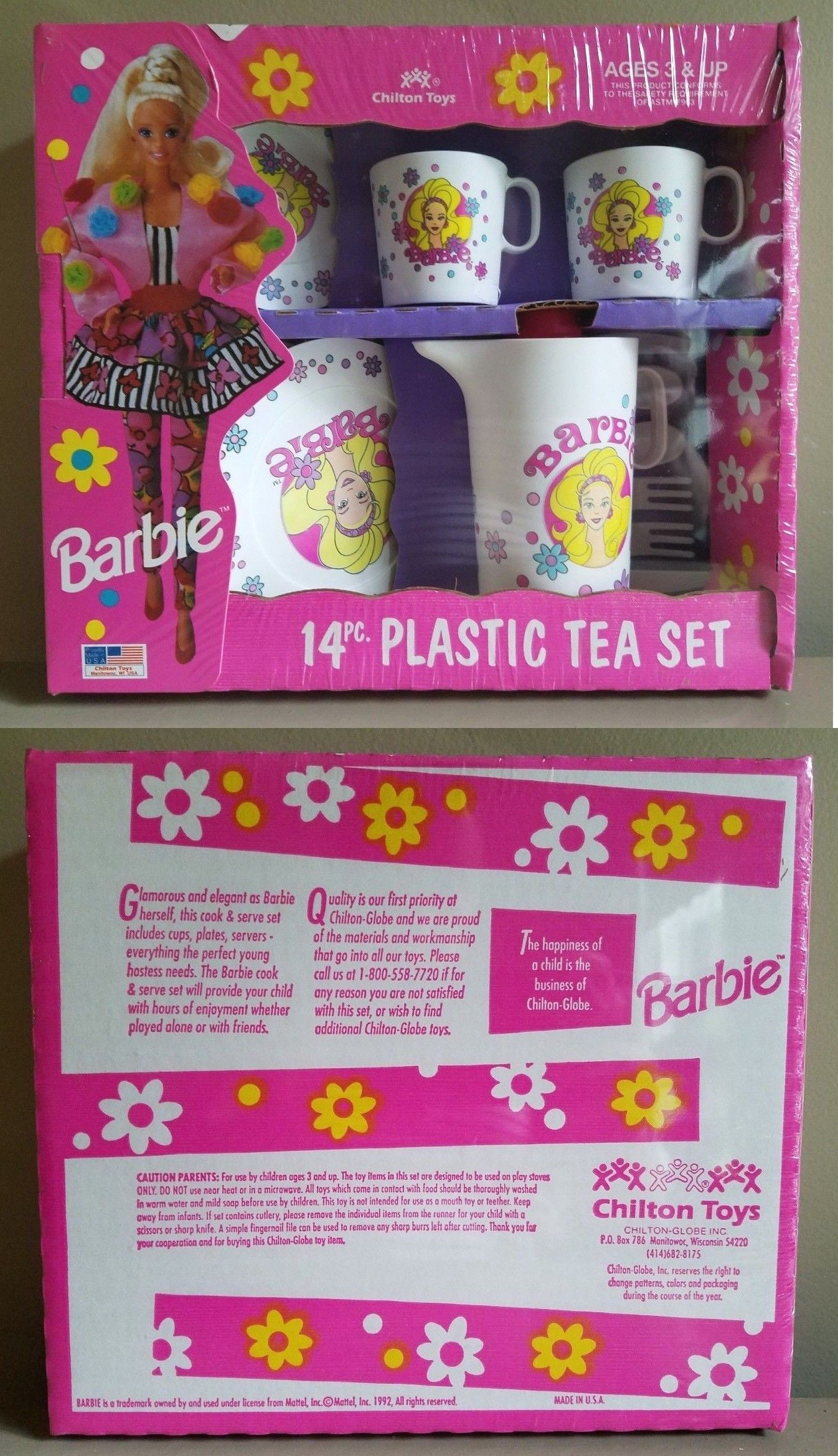 Dishes Tea Sets 19171 New Barbie 14 Piece Plastic Childrens Tea Set Buy It Now Only 14 99 On Ebay Dishes Ba Childrens Tea Sets Tea Set Plastic Tea Set