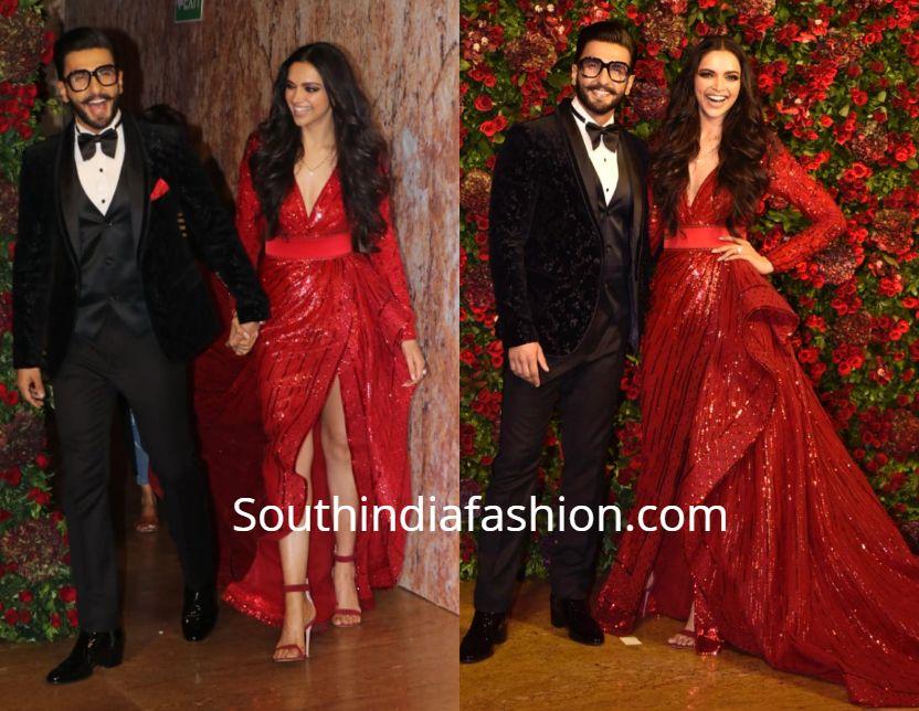 Deepika Padukone And Ranveer Singh S Wedding Reception Wedding Reception Outfit Indian Bridal Fashion Reception Gown