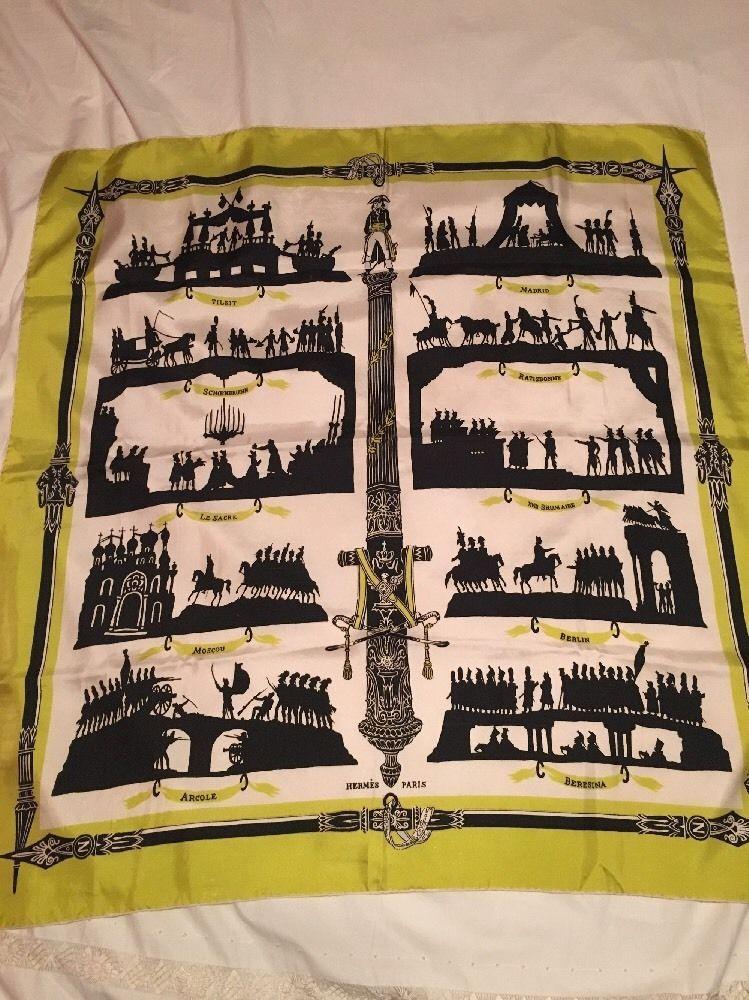 Foulard Hermes Soie Victoire B Grygkar 1949 90 Cms Rare Collector Scarf  Silk 35 06457be488f