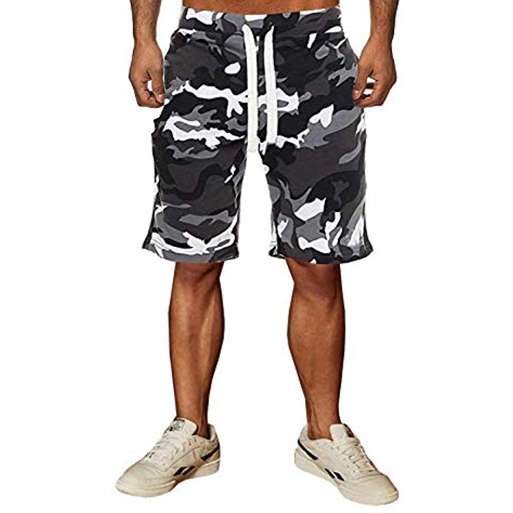 Herren Cargo Shorts Kurze Hosen Camo Hose Fitness Shorts