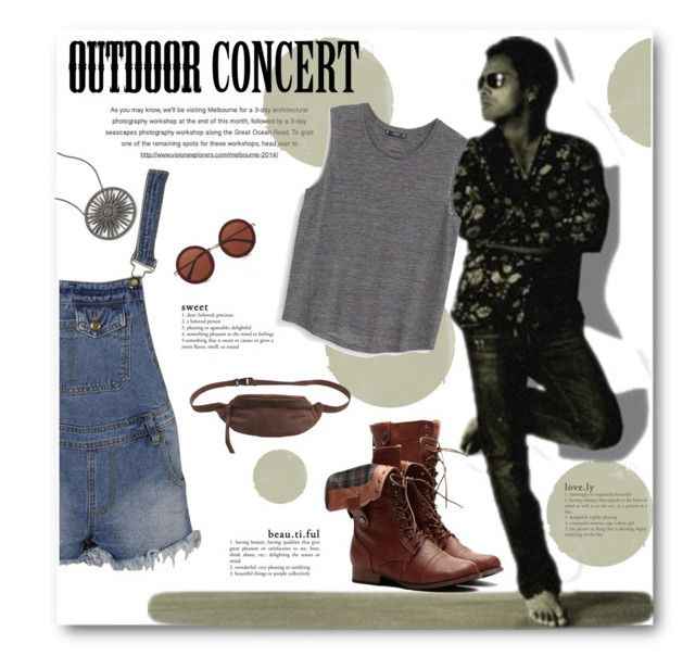 """""""Outdoor Summer Concert"""" by anitadz ❤ liked on Polyvore featuring Flavor Paper, Boohoo, MANGO, Pieces, The Row, Adriana Orsini and outdoorconcert"""