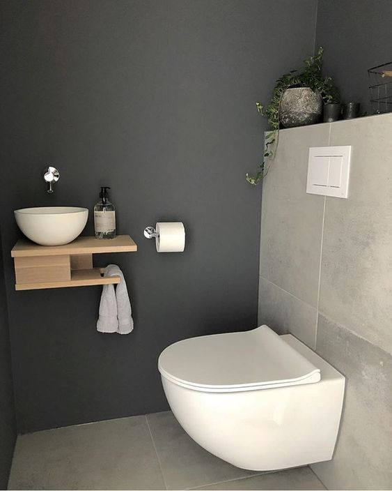 65 Inspirational Ideas To Design A Guest Toilet #downstairsloo
