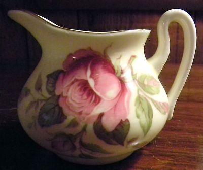 Staffordshire-White-Mini-Pitcher-Floral-Fine-Bone-China-Vintage-Glass-Glassware