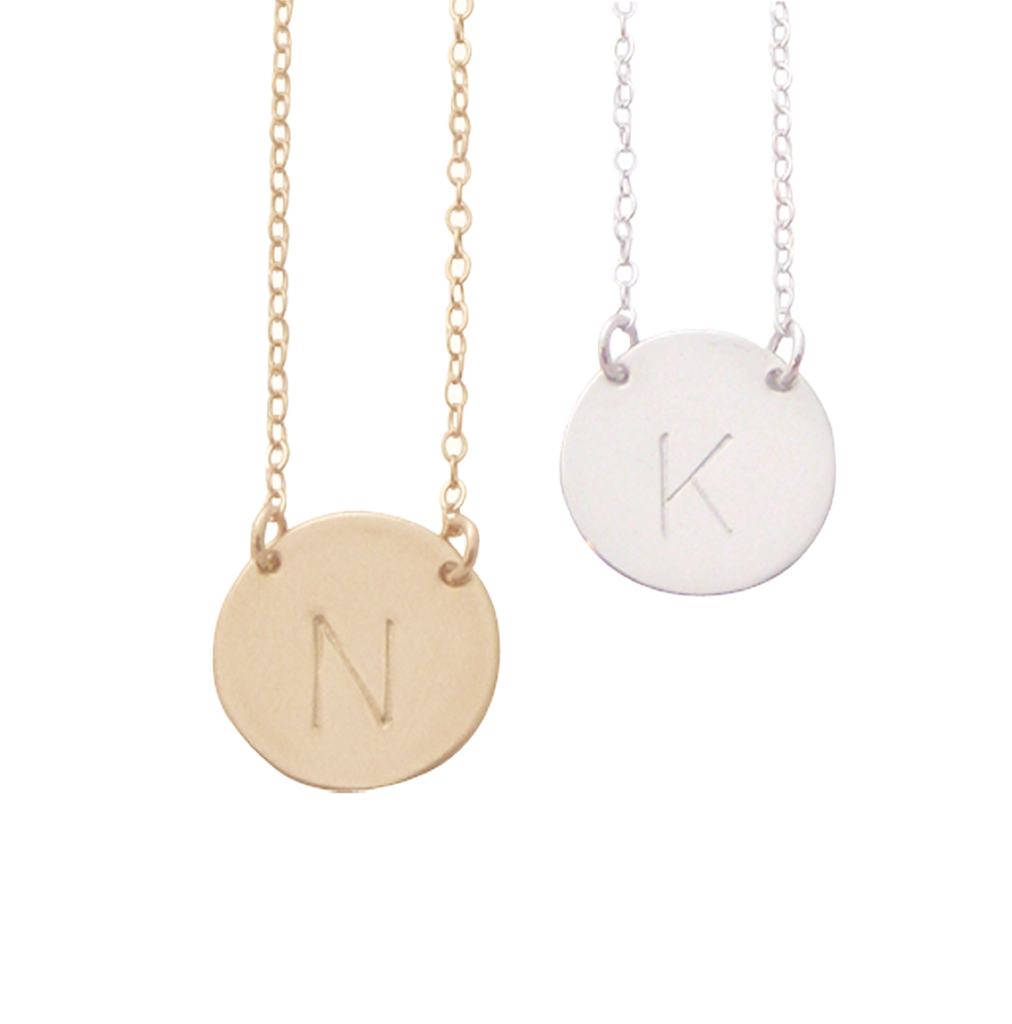 The Chloe initial collar necklace in gold silver rose gold