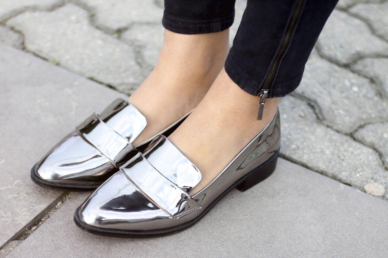 317253eda Sapato prata é o novo básico! | || my style | Sapatos metalizados ...