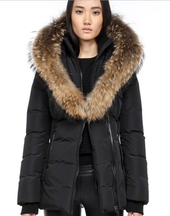 Mackage Adali F4 Womens Fur Hood Black Coats On Sale