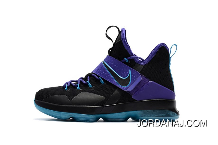 a427881bb097 Nike Lebron 14 Black Purple Jade Copuon