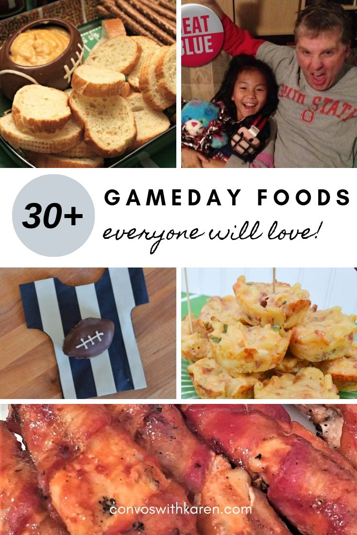 Gameday foods for football parties and tailgating. This collection of easy recipes will please any crowd and get you out of the kitchen to enjoy the game (or the commercials). #gamedayfoods #gamedayfoodsforacrowd #gamedayfoodscrockpot #partyappetizers #gamedaypartyfoodrecipes #superbowlfoodideas #tailgatefoodmakeahead Gameday foods for football parties and tailgating. This collection of easy recipes will please any crowd and get you out of the kitchen to enjoy the game (or the commercials). #gam #tailgatefoodmakeahead