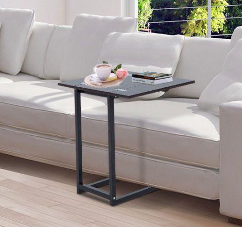 Homcom Beistelltisch Couchtisch Tisch Klappbar Metall Holz Faltbar Schwarz Essen Beistelltisch Haus Couchtisch
