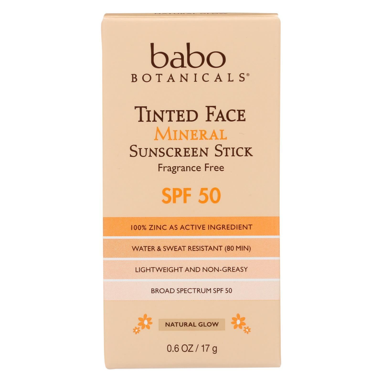 Babo Botanicals Tinted Face Mineral Sunscreen Stick Spf 50 Case Of 6 0 6 Oz In 2020 Babo Botanicals Sunscreen Stick Mineral Sunscreen
