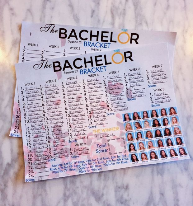 picture regarding Printable Bachelor Bracket named Do-it-yourself Bachelor Traveling to Celebration! w/ No cost Printables Bachelor Television