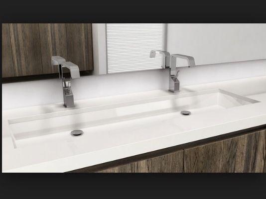Undermount trough sink Bathrooms Pinterest Trough sink and Sinks