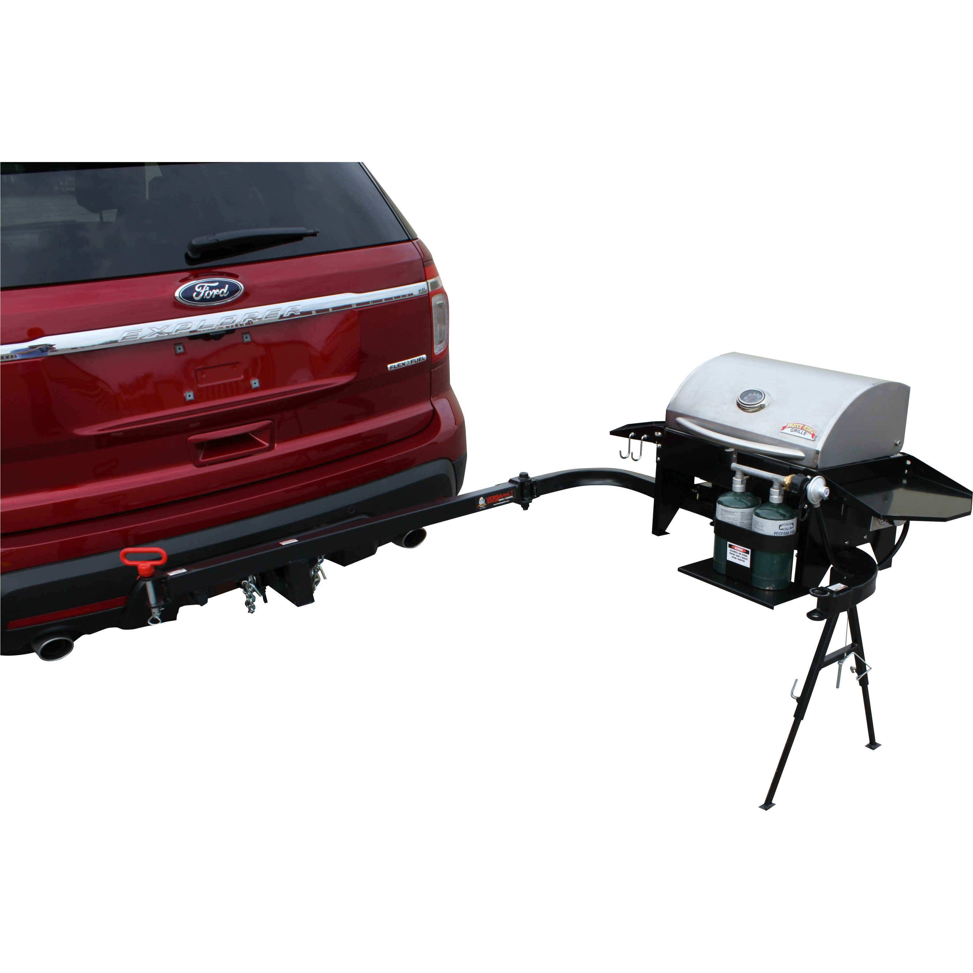 The Varsity6412 is one of Party King Grills hitch mount tailgate