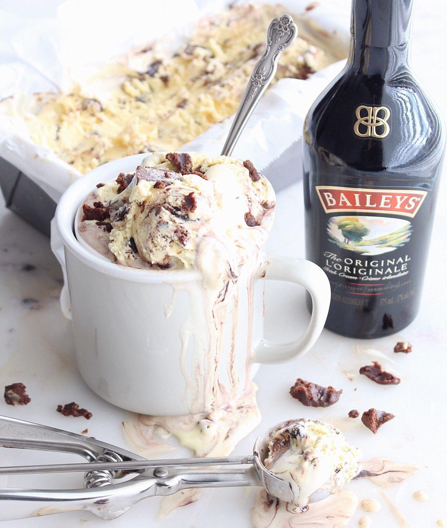 Baileys Irish Cream Brownie Swirl Ice Cream The Sweet And Simple Kitchen Irish Cream Irish Cream Desserts Eat