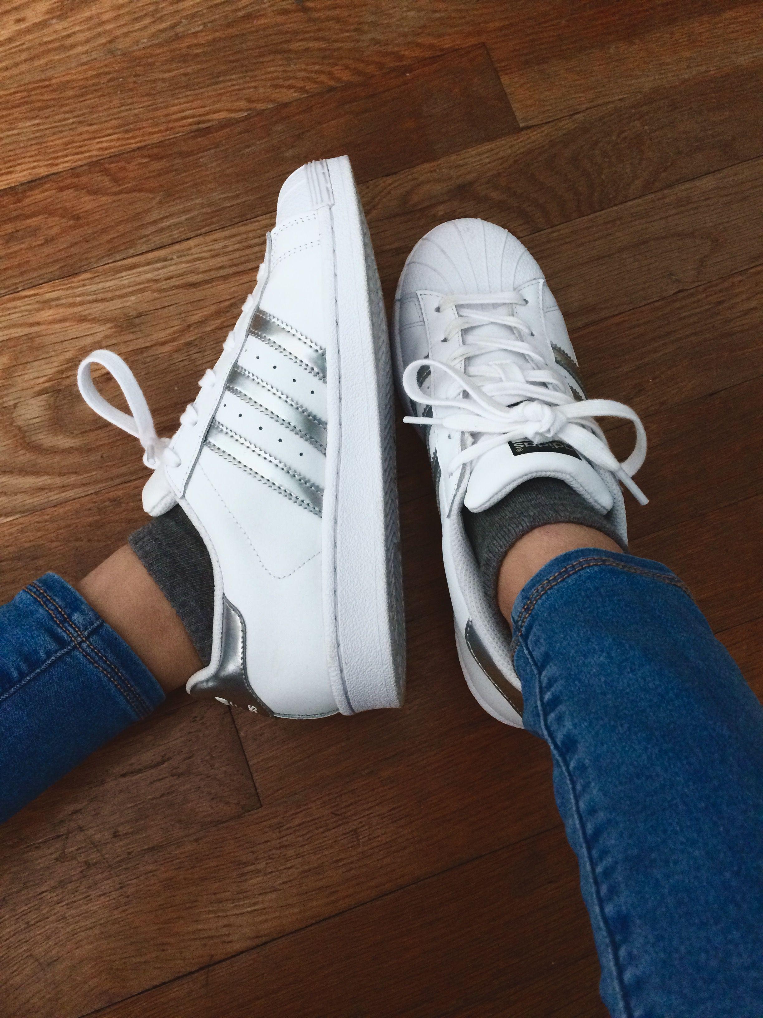 adidas / / argento / / scarpe / / noi / le donne superstar