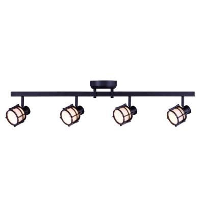 H&ton Bay 4-Light Antique Bronze Directional LED Track Lighting with Round White Glass Shades  sc 1 st  Pinterest & Hampton Bay 4-Light Antique Bronze Directional LED Track Lighting ... azcodes.com